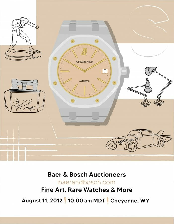 Fine Art, Rare Watches & More August 11, 2012 Auction Catalog - Baer & Bosch Auctioneers