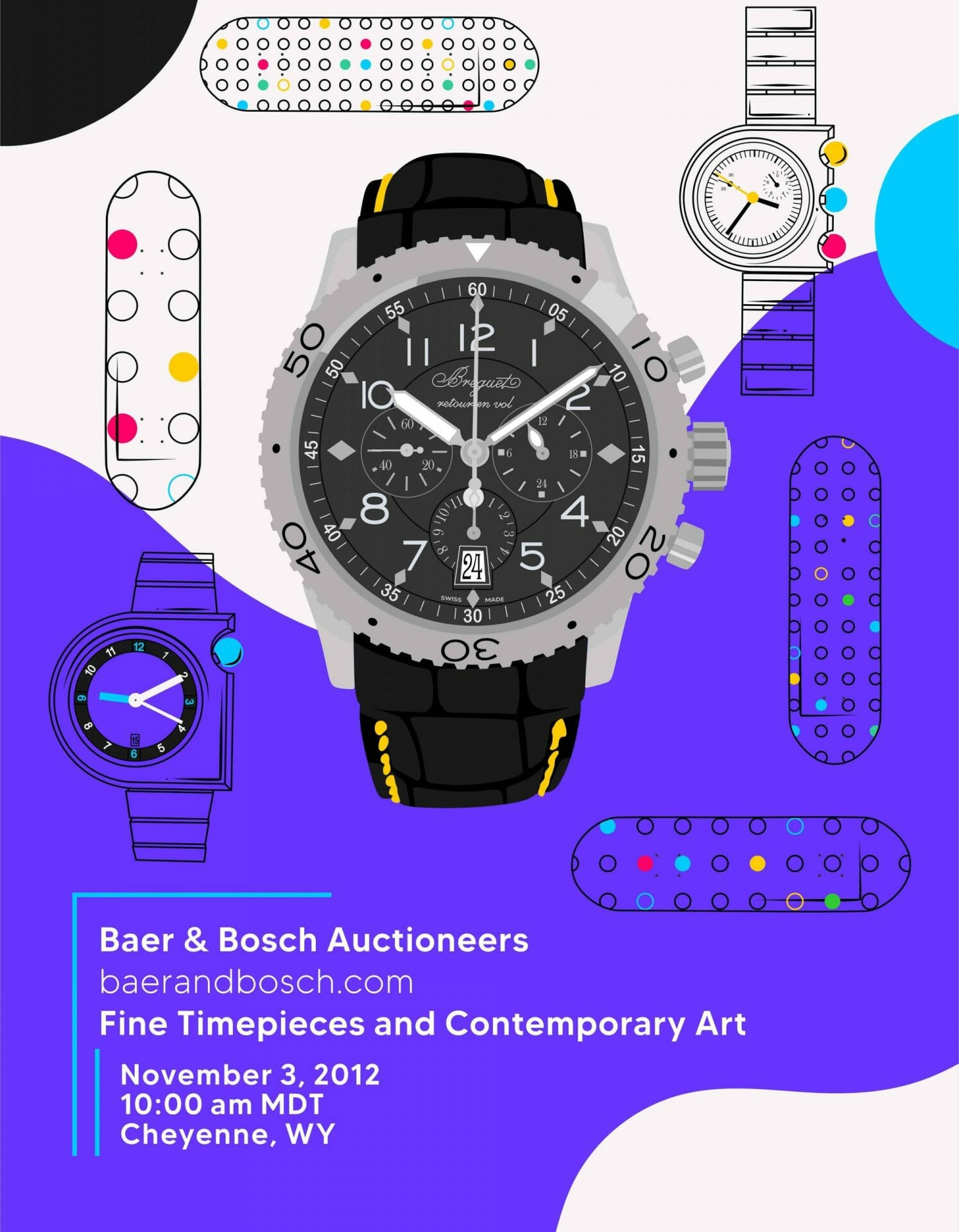 Fine Timepieces and Contemporary Art November 3, 2012 Auction Catalog - Baer & Bosch Auctioneers